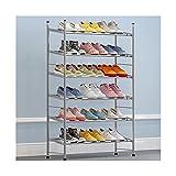 MQH Zapateros Torre de Zapato de Almacenamiento de Zapatos de Ahorro de Calzado de Zapatos de Metal Extensible para la Torre de Zapato para la Entrada, el Pasillo y el Armario Zapatos