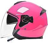 Casco de motocicleta Bluetooth, casco de moto jet Casco de motocicleta Bluetooth de moda para hombres y mujeres con casco retro scooter cruiser chopper certificación ECE/DOT 1,均码