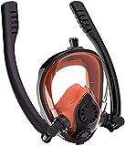 Mascara Buceo Máscaras de Buceo Máscara de Snorkel Máscara de natación con Cara Completa Anti-Niebla Equipo de Buceo Anti-Fugas Profesional Engranaje de Snorkel para Adultos y niños