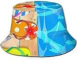Sombreros para hombres al aire libre sombrero de pescado, sombrero de ala ancha, sombrero de madera Dala caballos, tablero de madera con estrellas de mar y chanclas