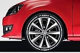 LK Performance - Adhesivo de vinilo con líneas de pirelli de goma, color blanco brillante