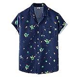 SSBZYES Camisas para Hombre Camisas De Verano De Manga Corta Camisetas para Hombre Camisas Estampadas Camisas Florales Finas Solapa De Playa Camisas Florales De Manga Corta