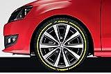 Original amarillo goma Raised neumáticos pegatinas pegatinas vinilo letras
