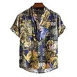 SSBZYES Camisas para Hombre Camisas De Verano De Manga Corta para Hombre Camisas Estampadas De Moda Camisetas para Hombre Camisas De Cuello Alto Camisas Polo Finas Estampadas