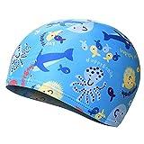 Gorras de natación impermeables para niños, gorras de natación de dibujos animados, gorras de natación deportivas, gorras de natación para niños y niñas