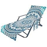paritariny Cubierta de Silla de salón de Playa, sillón de Playa Cubierta Toalla Multifuncional Perezoso Toalla de Playa Toalla sillón sillón Toalla Holiday jardín sin Silla (Color : 5)