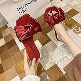 ypyrhh Hombres Verano Flip-Flop Sandalias,Zapatos de Playa de Moda de Mariposa, frío dramático-Rojo_37,Sandalias Playa