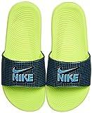 Nike Kawa Slide SE1 (GS/PS), Sandal, Black/Aquamarine-Cyber-Black, 38.5 EU