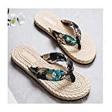 DSENIW Sandalias Flip Flop para Mujer - Zapatos De Cuerda Hechos A Mano - Sandalias De Playa - Cómodas Y Ligeras - Vegan Friendly - para Mujeres,Azul,5.5