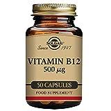 Solgar Vitamina B12 500 µg Cápsulas Vegetales - Envase De, 50 cápsulas