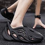 QQRR Zapatos de Playa y Piscina Zapatillas de Coco. Sandalias caseras. Zapatos de Playa-Negro_41Zapatillas baño Antideslizantes