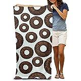 utong Toallas de Playa 100% algodón 80x130cm Toalla de Secado rápido para Nadadores Donut Cartoon Beach Blanket
