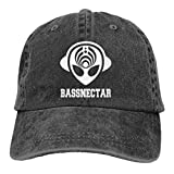 Hdadwy Bassnectar Alien - Sombrero de Vaquero Ajustable Retro, Unisex, Hip Hop, Negro, Gorras de béisbol