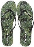 Superga 4121-fanrbrw, Zapatos de Playa y Piscina Mujer, Multicolor (Palms/Black A0a), 39 EU