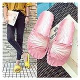 Youpin Zapatos de verano para mujer, diseño de cabbage para el hogar, baño, chanclas divertidas, antideslizantes, suaves en zapatos planos al aire libre (color: rosa, tamaño del zapato: 8)