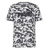 PUMA Hombre Camo Logo Camiseta Deportiva Casual Manga Corta Estampado Urbano 2XL