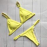 JUNJUNBO Pretty Bikinis Mujeres Solid Push Up Bikini Set Sujetador Acolchado Traje de baño Femenino Traje de baño brasileño Biquini Traje de baño Biquini