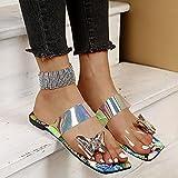 ypyrhh Zapatillas de Moda de Verano,Palabras Clave: Zapatillas de Playa, Plana de Ocio.-Azul_43,Zapatillas de Casa