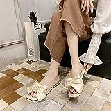 ypyrhh Zapatillas casa Hombre,Zapatos de Playa de Moda de Mariposa, frío dramático-Blanco Crema_37,Zapatillas de Verano Ligeramente Suaves